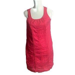 Lands End  Pink Shift Dress Pockets Sleeveless 8P